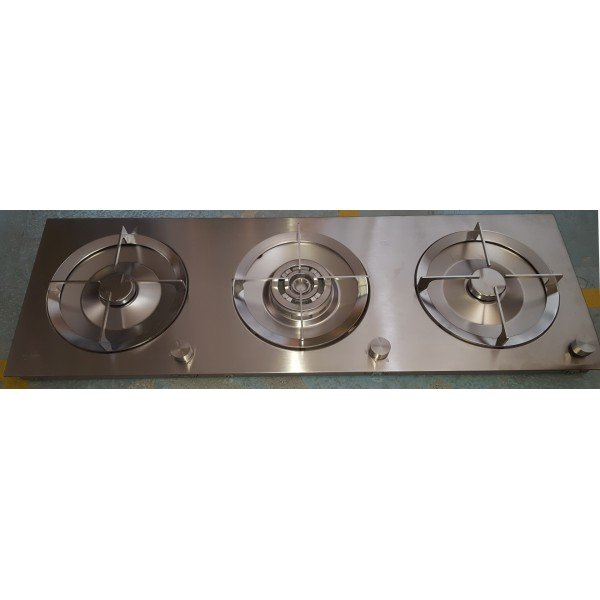 Whirlpool ACM 428 / IX / S three-burner stove WOK Cookers